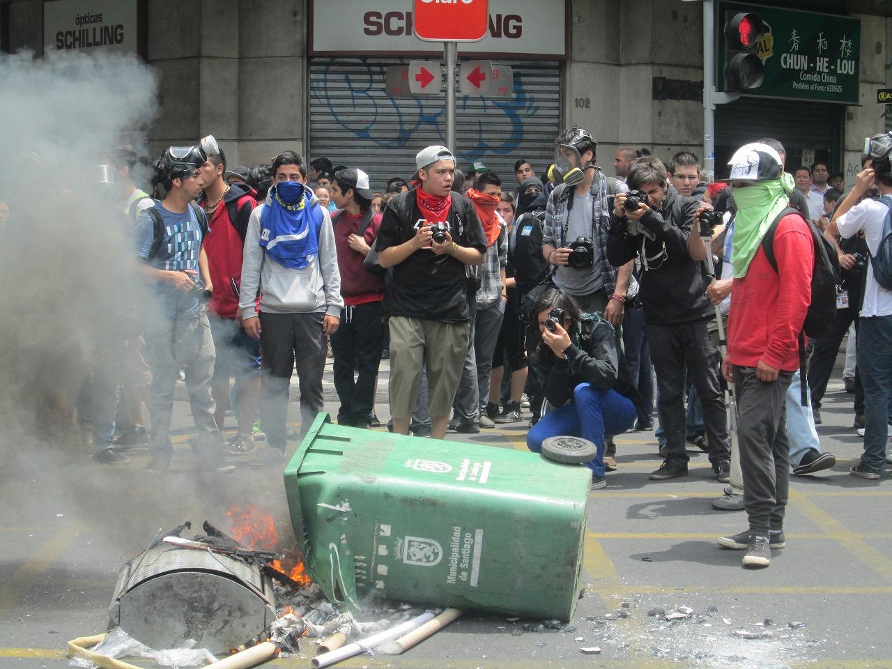 チリのサンティアゴの治安