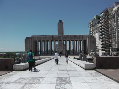 アルゼンチンのロサリオを歩く